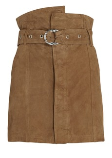 Marissa Webb Anniston Suede Paperbag Mini Skirt
