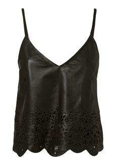 Marissa Webb Bristol Eyelet Leather Tank