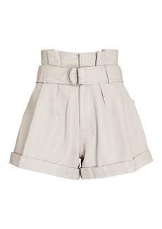Marissa Webb Dixon Leather Paperbag Shorts