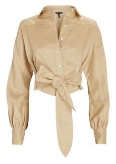 Marissa Webb Emmerson Tie-Waist Linen Shirt