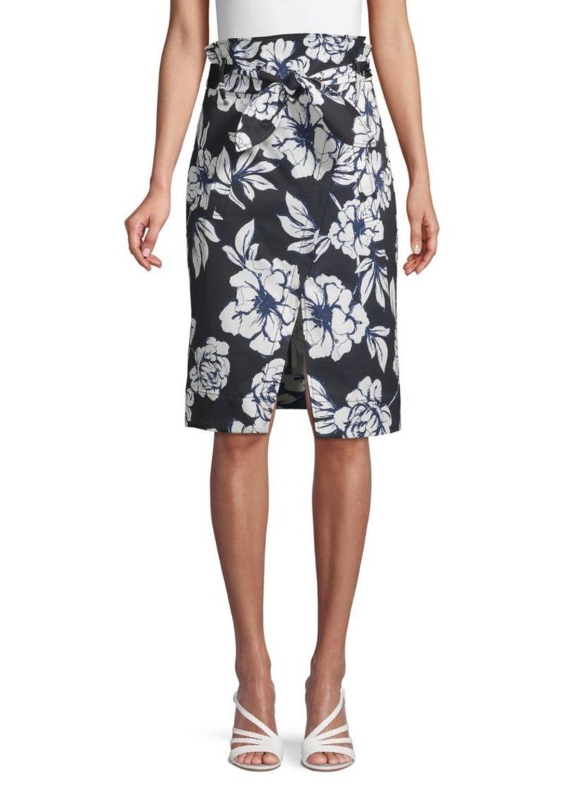 Marissa Webb Floral-Print Tie-Front Skirt