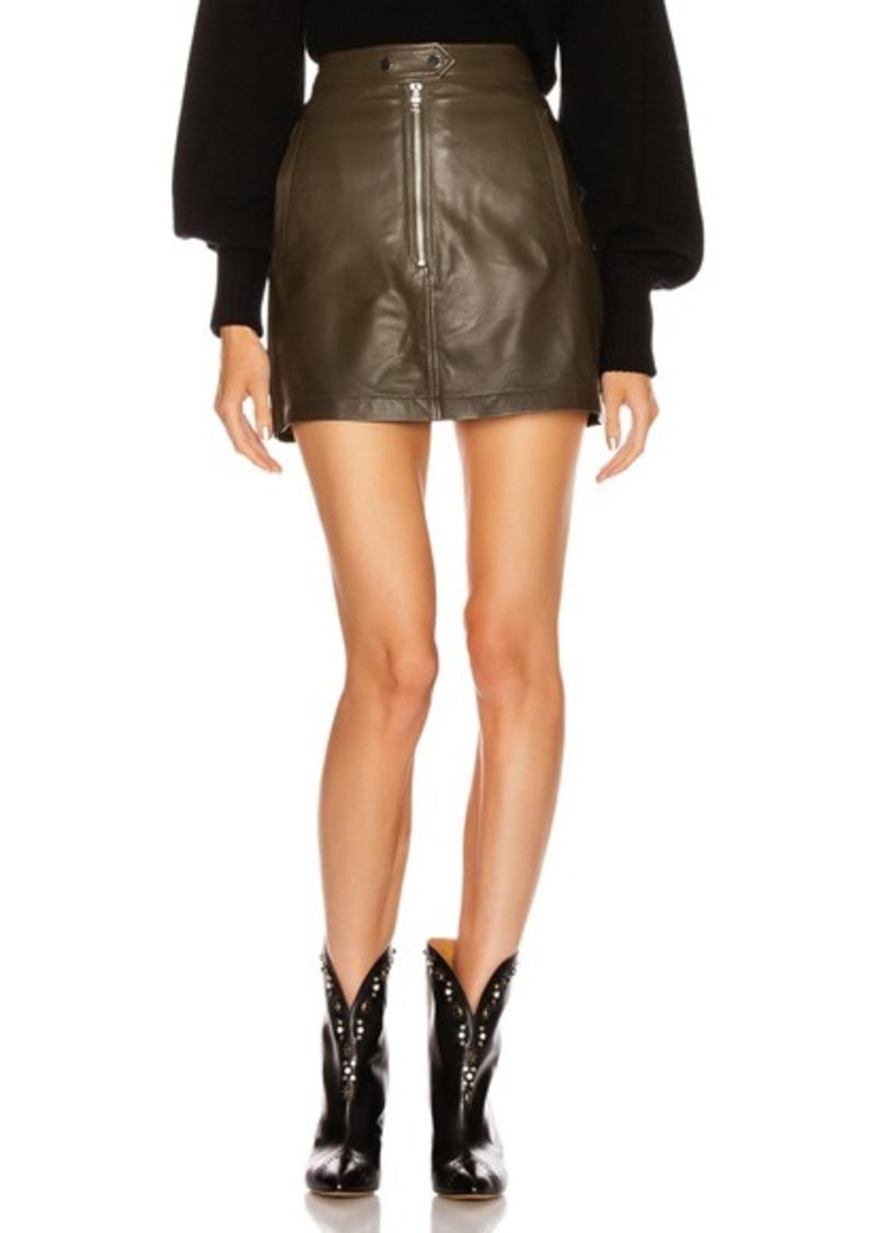 Marissa Webb Alexander Mini Leather Skirt