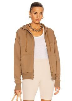 Marissa Webb Finley Drop Shoulder Zip Front Hoodie