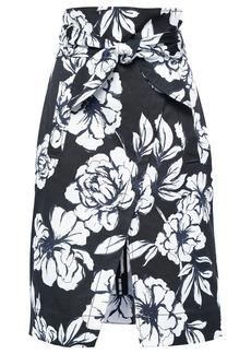 Marissa Webb Woman Belted Faille Skirt Black