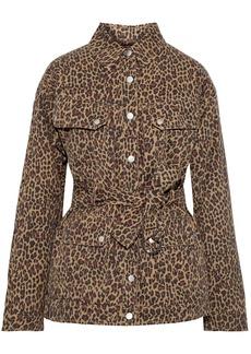 Marissa Webb Woman Ellery Belted Leopard-print Cotton-twill Jacket Animal Print