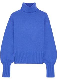 Marissa Webb Woman Sloane Cropped Wool Yak And Cashmere-blend Turtleneck Sweater Bright Blue