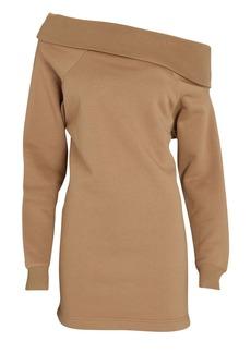 Marissa Webb One-Shoulder Mini Sweatshirt Dress