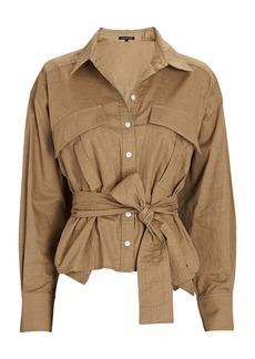 Marissa Webb Skylar Tie-Waist Linen Shirt