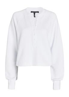 Marissa Webb So Uptight Plunge Henley Sweatshirt