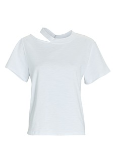 Marissa Webb Tate Cut-Out Crewneck T-Shirt