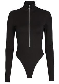 Marissa Webb Zip Front High Neck Bodysuit