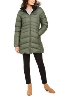 Marmot Montreal Hooded Faux-Fur-Trim Coat
