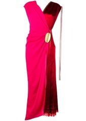 Marni wrap-around bicoloured dress
