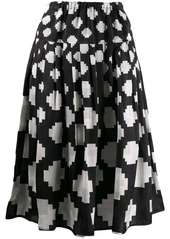 Marni pixelated print midi skirt