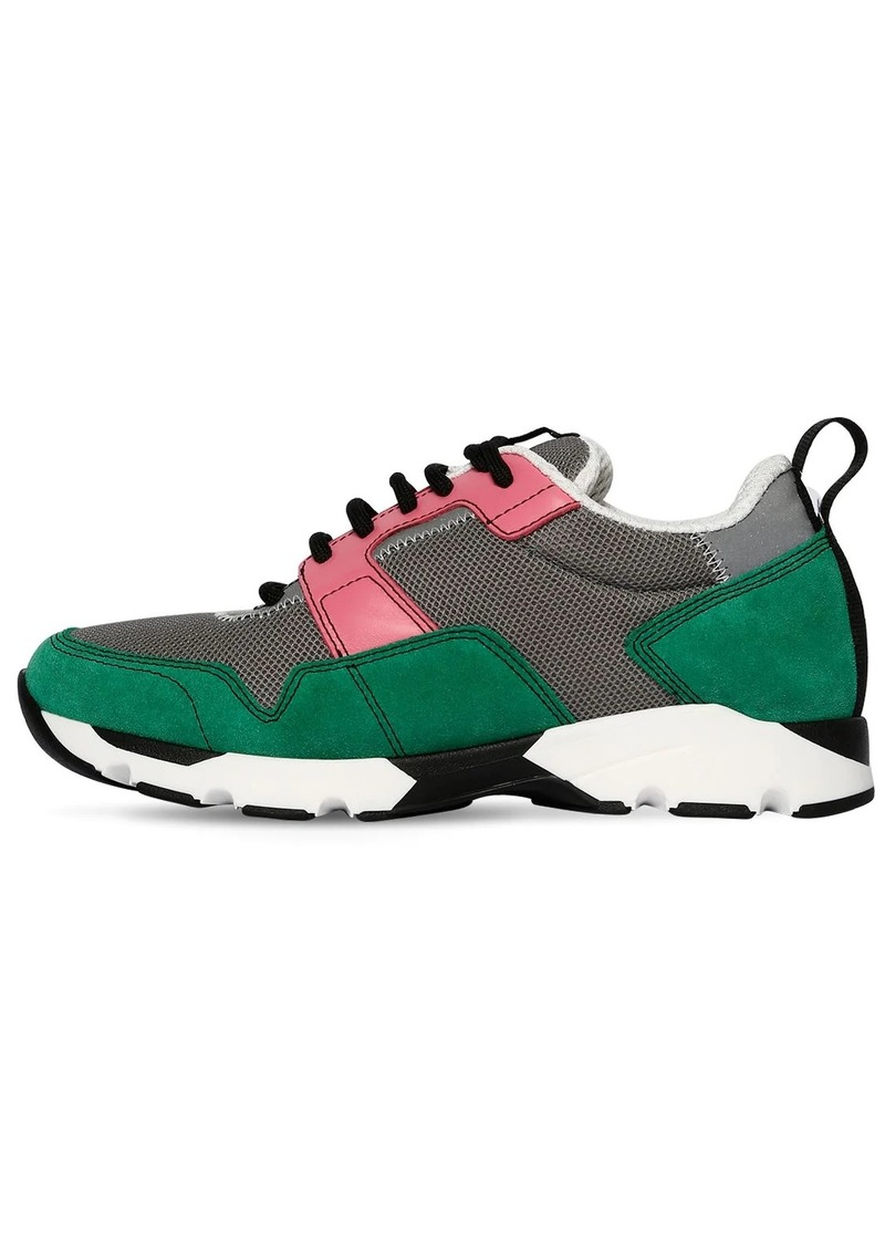 Marni 20mm Mesh & Suede Sneakers