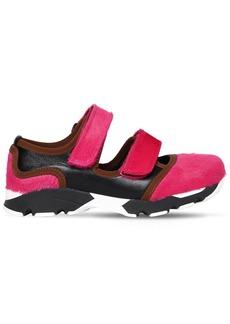 Marni 20mm Ponyskin & Leather Sneakers