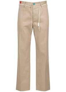 Marni 24.5cm Cotton Blend Gabardine Pants