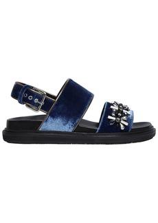 Marni 30mm Embellished Velvet Sandals