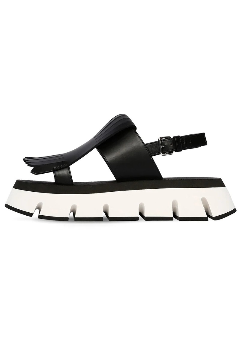 Marni 40mm Fringed Leather Sandals