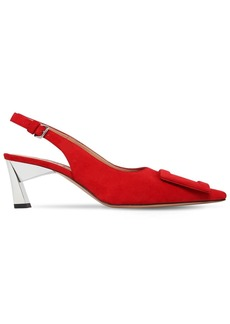 Marni 60mm Suede Slingback Pumps