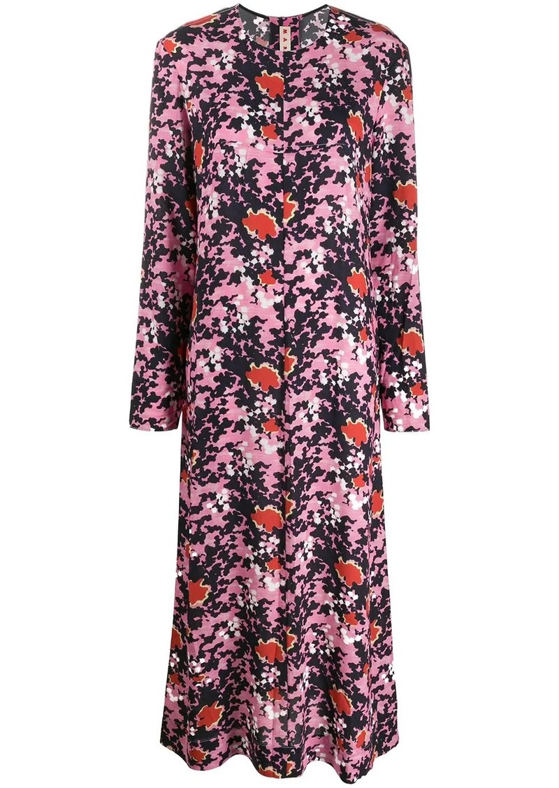 Marni abstract camouflage print dress