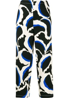 Marni abstract print cropped trousers