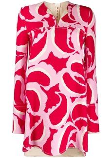 Marni abstract print tunic top