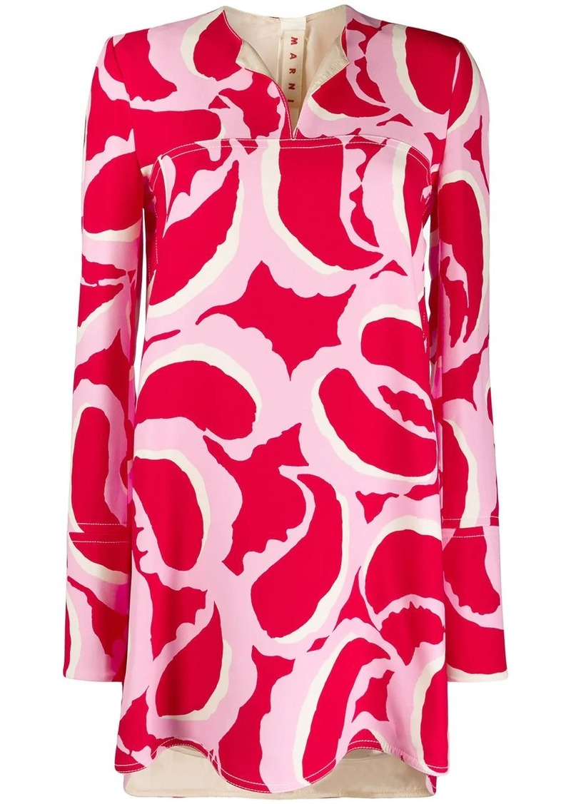 Marni abstract print tunic top