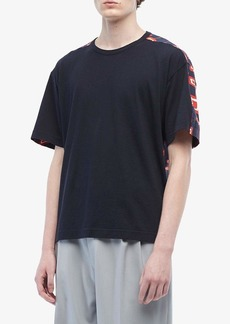 Marni Abstract Rectangle Mixed Fabric T-Shirt