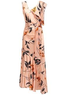 Marni Asymmetric Floral Print Flared Dress
