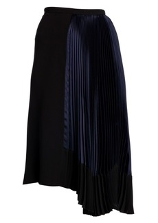 Marni Asymmetric Pleated Midi Skirt