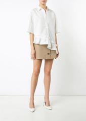 Marni asymmetric ruffle shirt