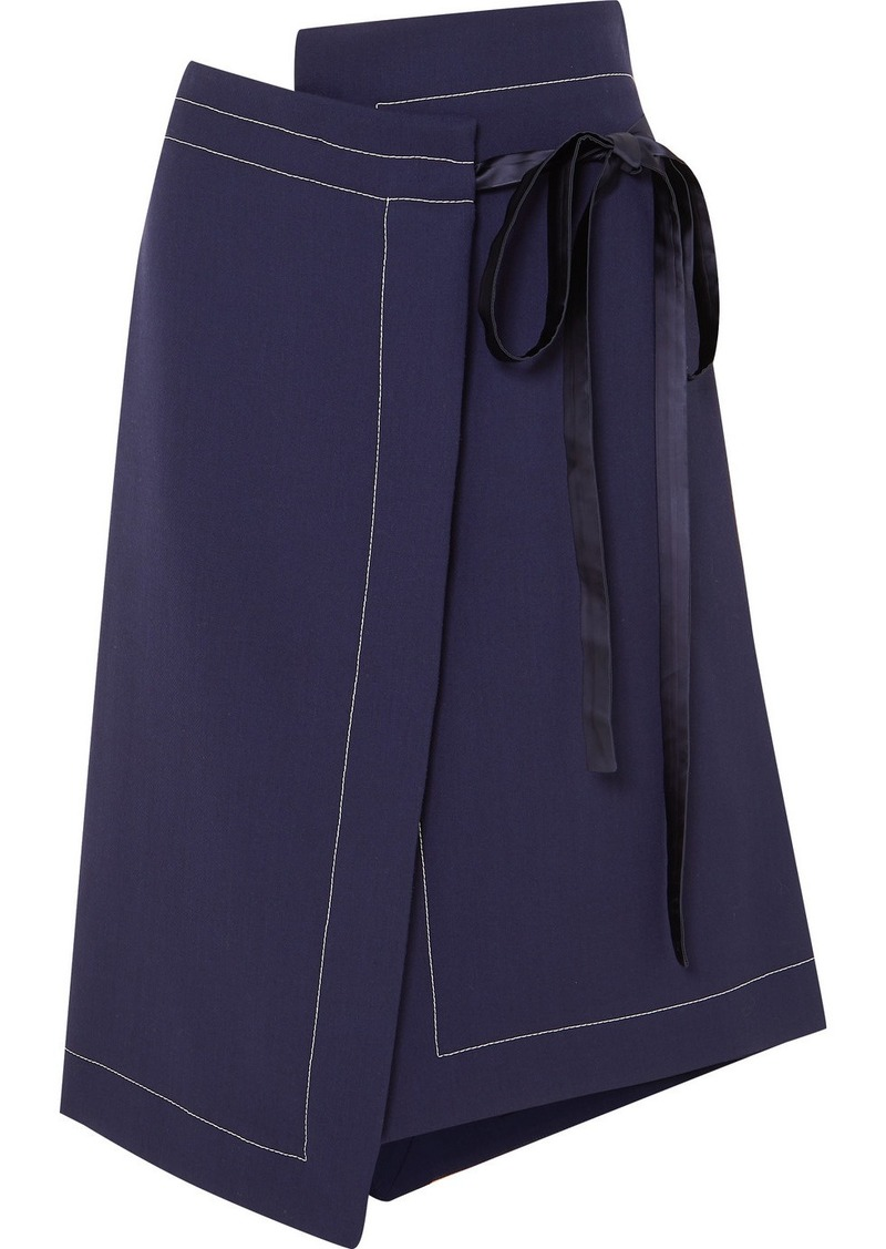 Marni Asymmetric Wool Wrap Skirt