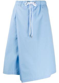 Marni asymmetric wrap drawstring skirt
