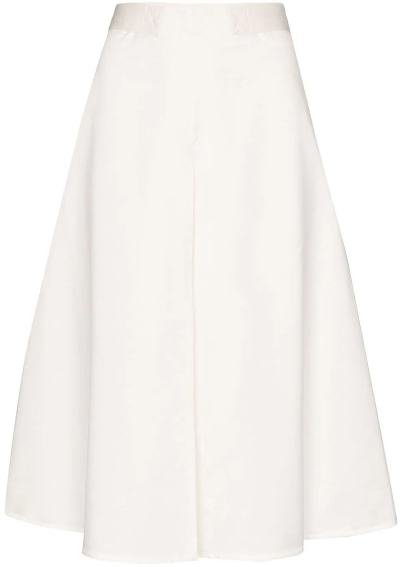 Marni belted cotton A-line skirt