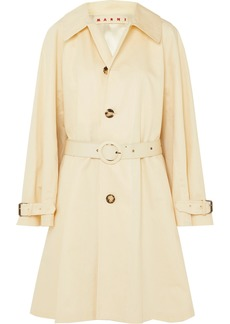 Marni Belted Cotton And Linen-blend Canvas Coat