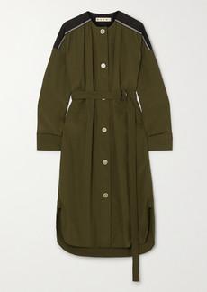 Marni Belted Cotton-poplin Midi Dress