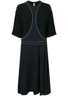 Marni belted midi dress