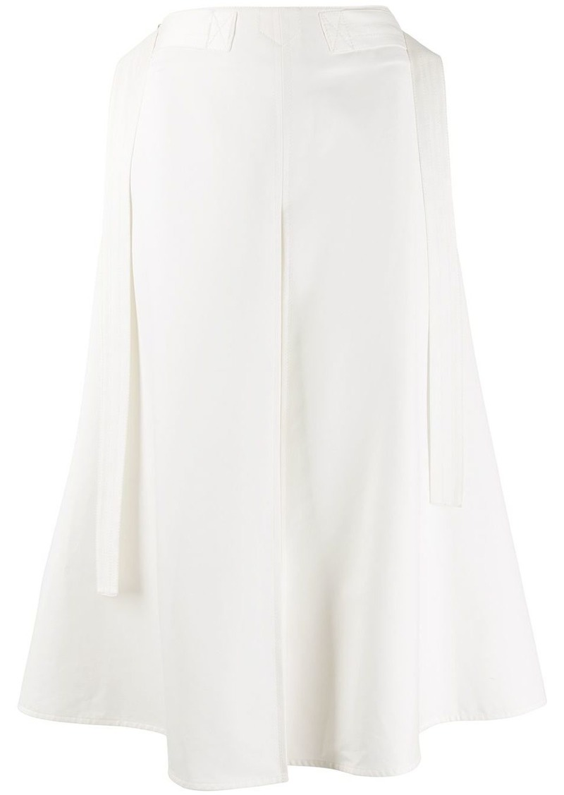 Marni side belts a-lined skirt