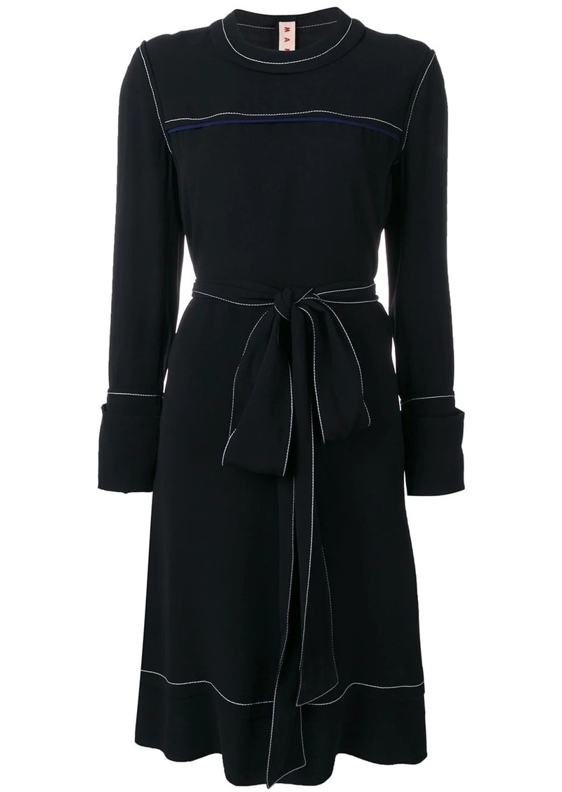 Marni belted sweater dress