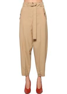 Marni Belted Wool Gabardine Cargo Pants
