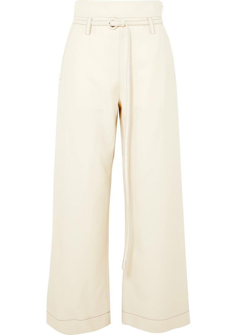 Marni Belted Wool-twill Straight-leg Pants