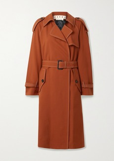 Marni Belted Wool-twill Trench Coat