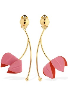 Marni Bicolor Flora Clip-on Pendant Earrings