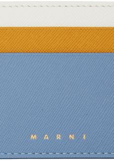 Marni Blue & Yellow Colorblock Card Holder