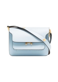 Marni blue trunk micro leather shoulder bag
