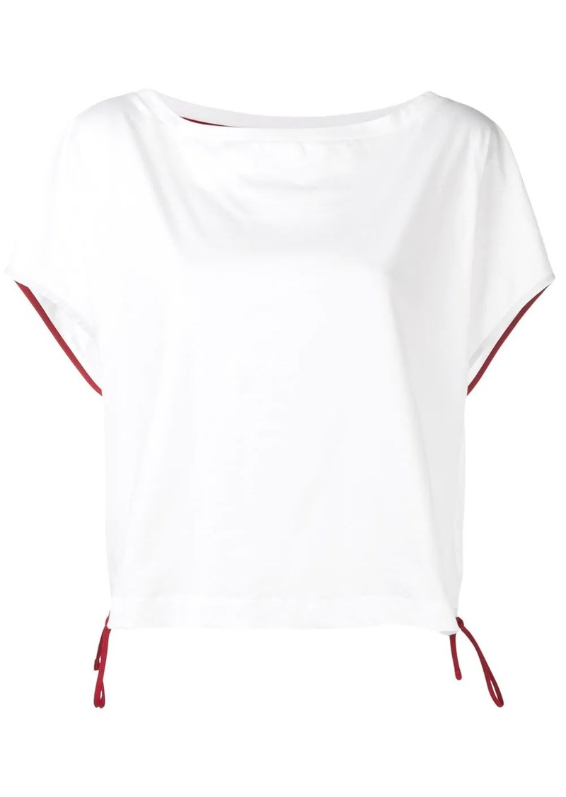 Marni boat neck drawstring top