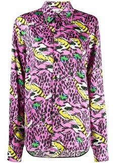 "Marni ""bolero"" print buttoned shirt"