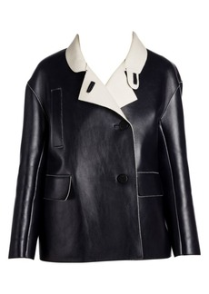 Marni Bonded Leather Crossover Jacket