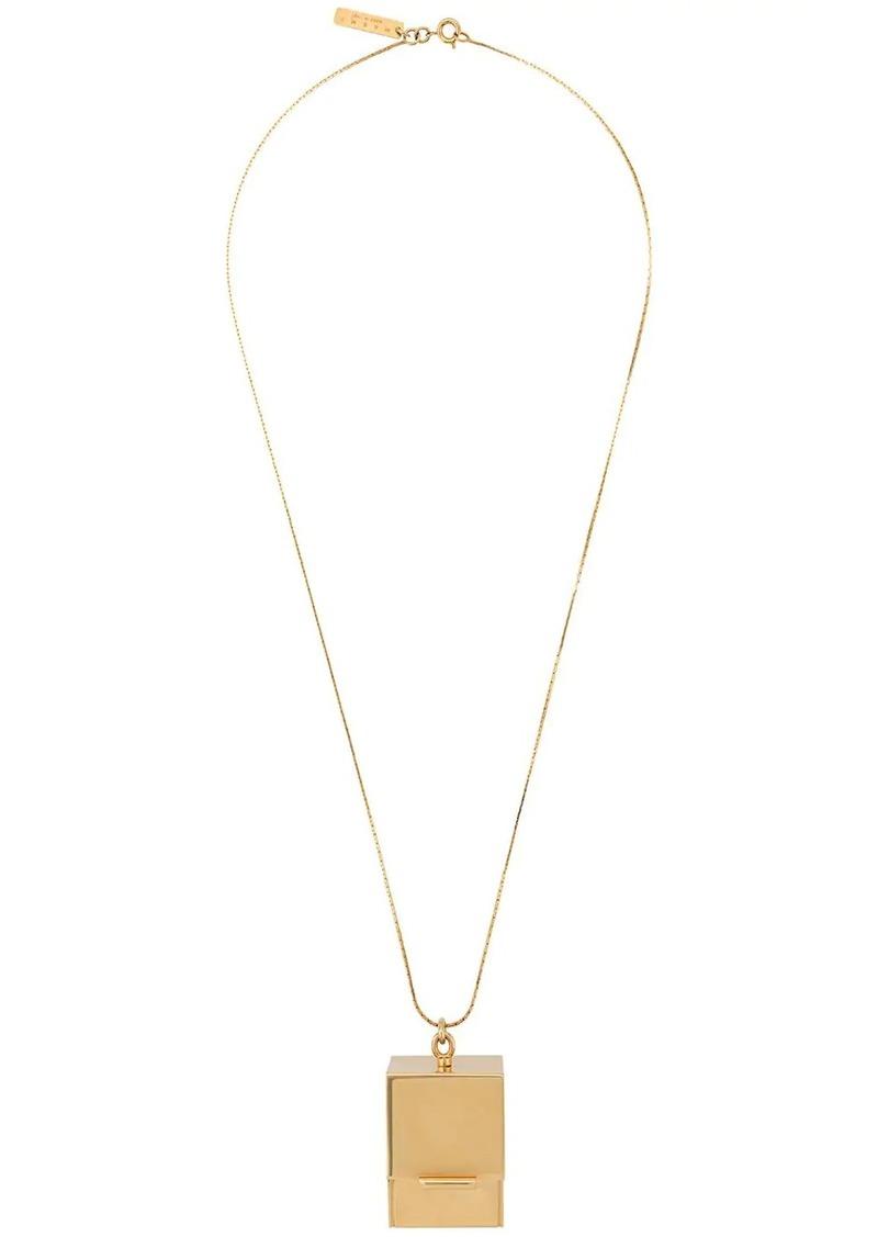Marni box pendant necklace